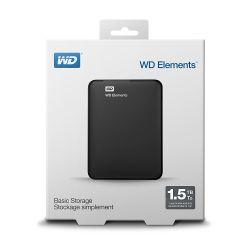 Hard disk extern WESTERN DIGITAL Elements 1.5 TB USB 3.0 2.5 inch Negru