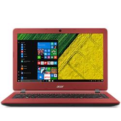 "ACER, Aspire ES1-332-C700, 13.3"", HD non-Glare, Intel Celeron N3450, DDR3L 4GB (1x4), eMMC64GB, no ODD, Intel HD Graphics, HDMI, WiFi, BT 4.0, Gbit LAN, 3 cell batt., SD card reader, 2 xUSB 2.0, 1 xUSB 3.0 ports, Windows 10 Home, Red, 2 yr"