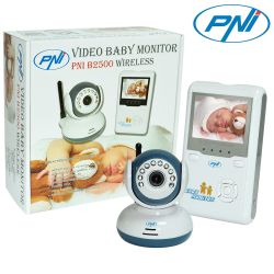 Video Baby Monitor PNI B2500 ecran 2.4 inch wireless
