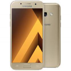 """Telefon SAMSUNG Galaxy A3 2017 DE 4.7"""" 1280x720 pixels, 2G, 3G, 4G, Dual SIM, Octa core, 2 GB RAM, stocare 16 GB, Auriu, cameră față 8 MP, cameră spate 13 MP, Android 6.0 (Marshmallow)"""