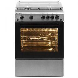 Aragaz ARCTIC AG6612DTTLX, 4 zone de gatit, gaz, grill, rotisor, inox/argintiu