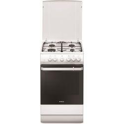 Aragaz HANSA FCGW521109, 4 zone de gatit, gaz, grill, rotisor, alb