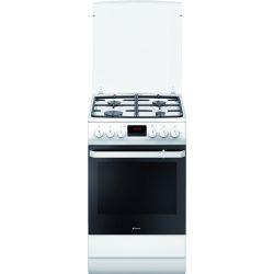Aragaz HANSA FCMW582109, 4 zone de gatit pe gaz, cuptor electric, grill, alb