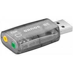 Placa de sunet GOOBAY USB 2.0 2 x 3.5 jack