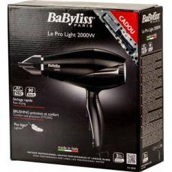 Uscator de par BABYLISS Pro Light 6604E+791971, 3 viteze, 3 trepte de temperatura, 2000W, negru + Perie 28mm