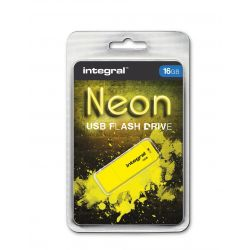 Memorie externa Integral USB Flash Drive NEON 16GB USB 2.0 - Galben