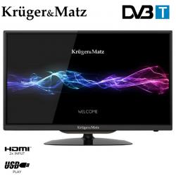 """Televizor LED KRUGER&MATZ KM0224 24"""" (61 cm), Plat, HD, Negru"""