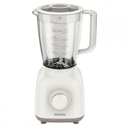 Blender PHILIPS HR2100/00, 1.25l, 2 viteze, 400W, alb