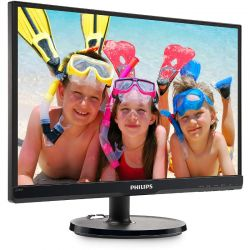Monitor LED Philips 226V6QSB6/00 21.5 inch 8 ms Negru