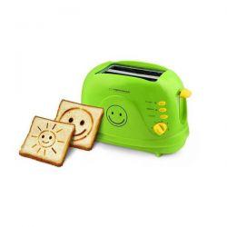 Prajitor de paine ESPERANZA Smiley EKT003, 2 felii, 750W, verde