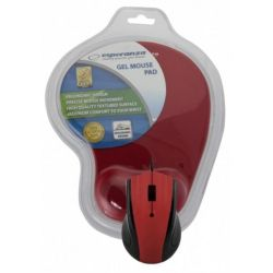 Mouse optic ESPERANZA EM125R USB + mousepad gel, 1200 DPI, Rosu