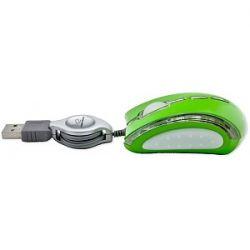 Mouse optic ESPERANZA EM109G, cu fir retractabil, USB, 800 DPI, Verde
