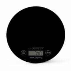 Cantar de bucatarie electronic ESPERANZA Mango EKS003K, 5kg, negru