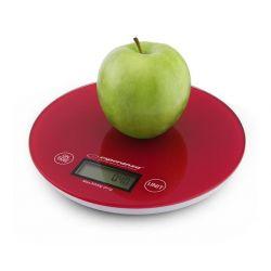 Cantar de bucatarie electronic ESPERANZA Mango EKS003R, 5 kg, rosu