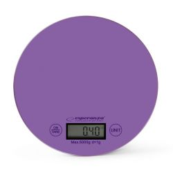 Cantar de bucatarie electronic ESPERANZA Mango EKS003V, 5kg, mov