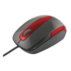 Mouse optic TITANUM TM108K BARRACUDA 3D, USB, 1000 Dpi, Negru-Rosu