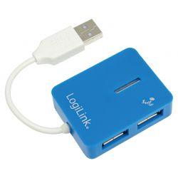 """HUB USB 2.0 extern,  4*USB,  Smile Logilink, blue, """"UA0136"""""""
