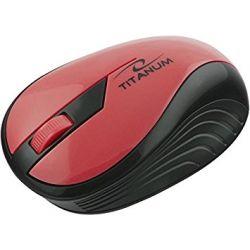 Mouse Wireless Optic TM114R, 2.4 GHz, 1000 Dpi, Rosu