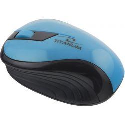 Mouse Wireless Titanum TM114T, 2.4 Ghz, 1000 Dpi, 2.4 GHz, Turcoaz