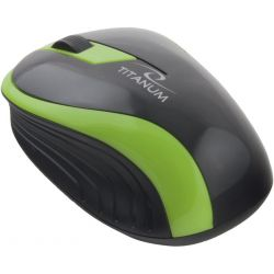 Mouse Wireless Titanum TM113G Butterfly Optic 3 butoane 1000dpi, Verde