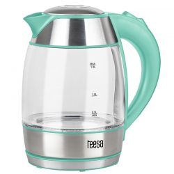 Fierbator electric TESSA TSA1510G, capacitate1.8l, 2200W, transparent/verde