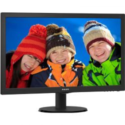 Monitor LED Philips 243V5LHSB5/00 23.6 inch 5 ms Negru
