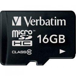 Card de memorie VERBATIM microSDHC 16GB CL10