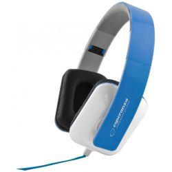 Casti ESPERANZA EH137B stereo cu control volum pe fir Albastru/Alb
