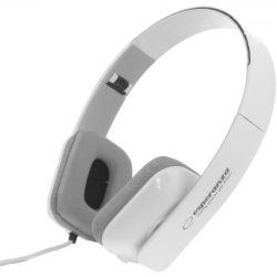 Casti ESPERANZA EH143W stereo cu control volum pe fir Albe