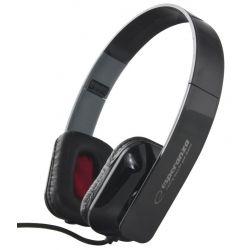 Casti ESPERANZA EH143K stereo cu control volum pe fir Negre