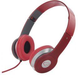 Casti ESPERANZA Techno EH145R stereo cu control volum pe fir Rosii