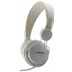 Casti ESPERANZA Sensation EH148W stereo cu control volum pe fir Albe
