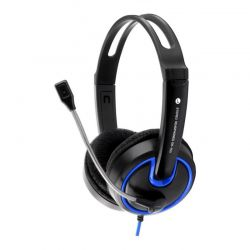 Casti cu mirofon ESPERANZA EH153B stereo cu control al volumului pe fir Negru/Albastru