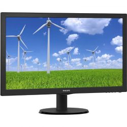 Monitor LED Philips 243S5LSB5/00 23.6 inch, 5 ms, TN, Full HD, DVI/D-Sub