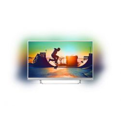 "Televizor LED Smart PHILIPS 49PUS6482/12 49"" (124 cm), Smart TV, Plat, Ultra HD, Android, Argintiu"