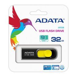 Memorie externa ADATA UV128 32GB, USB 3.0, Negru-galben