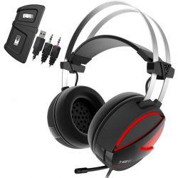 Casti cu microfon GAMDIAS Hebe E1 RGB Negru/Rosu