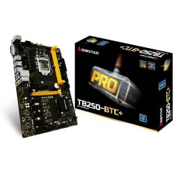 Placa de baza Biostar TB250-BTC+, LGA 1151 Intel B250 SATA 6Gb/s USB 3.0