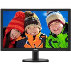 Monitor LED Philips V-line 240V5QDAB/00 23.8 inch, 5ms, IPS, HDMI, D-Sub, DVI, Negru