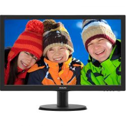 Monitor LED Philips 243V5LHAB5/00 23.6 inch 5 ms Negru