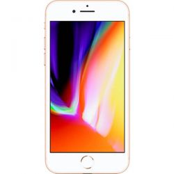 "Telefon APPLE iPhone 8  4.7"" 750x1334 pixels, 2G, 3G, 4G, Single SIM, Hexa core, 2 GB RAM, stocare 64 GB, Auriu, cameră față 7 MP, cameră spate 12 MP, Apple iOS 11"
