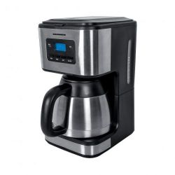 Cafetiera HEINNER HCM-900XMC, capacitate 1l, 10 cesti, 900W, negru/inox