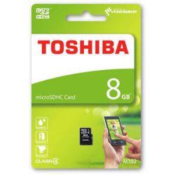 Card de memorie microSDHC TOSHIBA 8GB M102 CL4 + adaptor