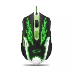 Mouse Gaming Esperanza EGM405 Cyborg USB 2400 Dpi Negru-Verde