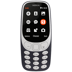 "Telefon NOKIA 3310 2.4"" 240x320 pixels, 2G, 3G, Dual SIM (Dual Stand-by), Single core, stocare 0.16 GB, Negru, cameră spate 2 MP,"
