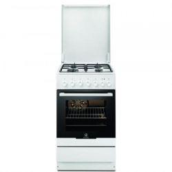 Aragaz mixt ELECTROLUX EKK52550OW, 4 zone de gatit, gaz/electric, grill, alb