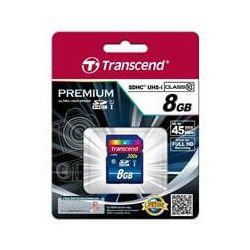 Card de memorie TRANSCEND SDHC 8GB, Clasa10 UHS-I