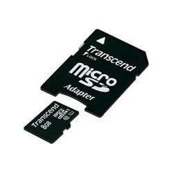 Card de memorie TRANSCEND Micro SDHC 8GB Clasa 10 UHS-I + adaptor SD