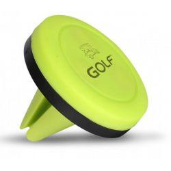 Suport auto magnetic GOLF CH02 Verde/NegruSuport magnetic pentru telefon, GPS, PAD, POD, MP3, MP4 players. Se poate inclina in orice unghi si se poate roti 360 grade. Se poate utiliza pentru majoritatea modelelor de telefoane.
