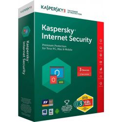 Antivirus KASPERSKY Internet Security 2018, 3 utilizator, 12 luni